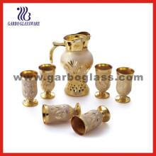 Handicraft Golden Plating Glassware Set/Glass Jug Set (EX-DYK32)