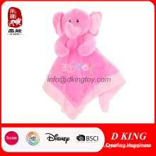 Brinquedo macio animal do cobertor do bebê do conforto do luxuoso bordado orgânico