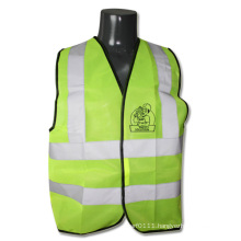 Lime Green High Visibility Reflective Construction Warehouse Safety Vest (YKY2825)