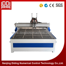 Two spindles cnc woodworking machine