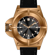 2018 new gold men's titanium watch