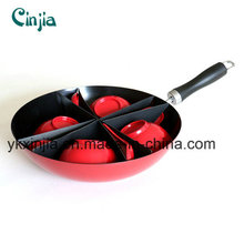 Aluminum Carbon Steel Chinese Wok with Bowl and Spoon
