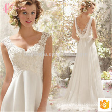 Sexy spaghetti strap slim fit short chapel train lace applique ball gown alibaba wedding dress