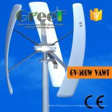 Pequeña turbina de viento 0.5kw vertical de la turbina de la rejilla para las ventas