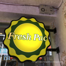 Custom Hanging Vacuum Forming Light Box  Signs Display 3D LED  Outdoor Advertising Light Boxes