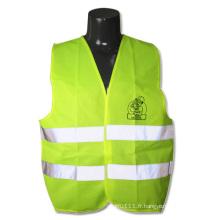 Gilet de sécurité de haute visibilité de la bande réfléchissante verte de bande au néon (YKY2821)
