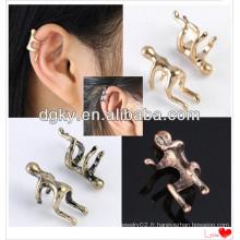 Climbing Man Naked Climber Boucles d'oreilles en cartilage pour manchette pour Helix