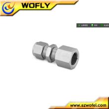 Metric Small Bulkhead Female Conector de accesorios de tubo