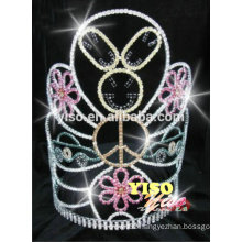 crystal rhinestone custom making flower diamond crowns and tiaras