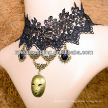 New Arrival Halloween Time unique mystérieux vampire style Gothic mal dentelle collier LS46