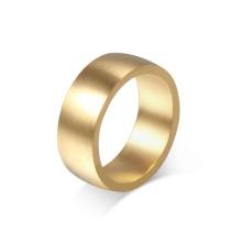 Forme el anillo llano de las bandas del oro del acero inoxidable, diseño del anillo de oro para la joyería femenina