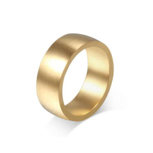 Anel de aço inoxidável liso das faixas da forma do ouro, projeto do anel do ouro para a jóia fêmea