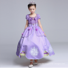 Western Hallowmas Kostüm Mädchen Prinzessin Kleider Kinder große lange flauschige Zeichentrickfiguren Outfits Großhandel Puff Ärmel