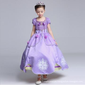 Trajes de Hallowmas occidentales niñas princesa prendas de vestir niños grandes y esponjosos personajes de dibujos animados trajes al por mayor manga de soplo