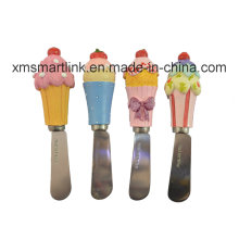Cupcake Butter Spreader. Stainless Steel Butter Knife