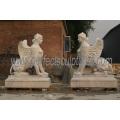 Hand gemacht Leben Größe Stein Marmor Garten Skulptur (SY-X1242)