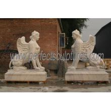 Hand Made Life Size Sculpture en pierre de marbre en bois (SY-X1242)