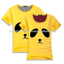 printed cotton couple t shirt short sleeves with o neck