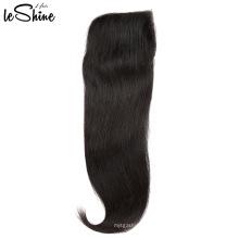 Gros Top Régulier 4 * 4 Brésilien Fermeture De Cheveux Humains Avec Vison Weave Bundle Expédition De Nuit