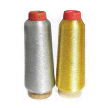 MS type Bright silver golden Slender colorful gold material mix polyester and 35% metallic blended yarn for Embroidery