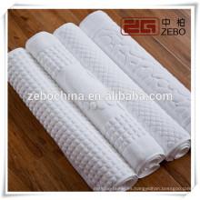 Puro algodón jacquard piso de baño toallas / Mat