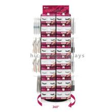 8 Ebenen Standfuß Drehen 360 Grad 4-Wege Haken Hanging Großhandel Metall Wimper Display Rack