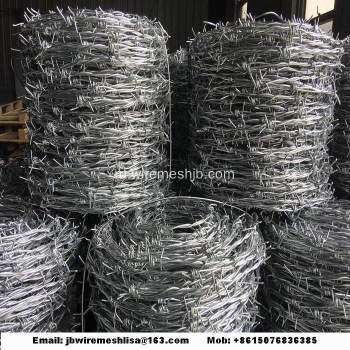 PVC+Coated+And+Galvanized+Barbed+Wire