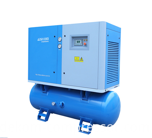 Receiver Mounted Electric Rotary Air Compressor