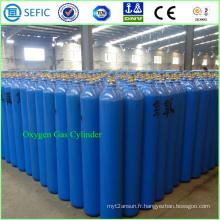 Cylindre à haute pression sans couture d'oxygène de l'acier 40L (ISO9809-3)