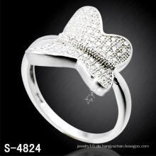 Fashion Lady's Butterfly Ring mit gefüllter glänzender CZ (S-4824)