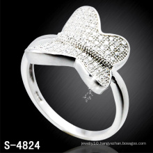 Fashion Lady′s Butterfly Ring with Filled Shining CZ (S-4824)