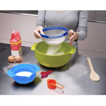 10PCS Färgstarkt Stackable Plastic Mixing Bowl Set