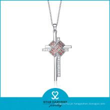 2016 colar de prata de luxo para as mulheres (N-0078)