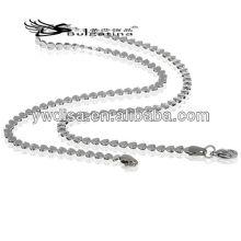 Perles de coeur Collier en chaîne Collier en acier inoxydable Serpent Hommes Chaîne 3.5 mm 45cm Longueur