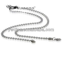 Colar de corrente de contas de coração fazer colar de aço inoxidável cadeia de homens de cobra 3,5 mm 45 centímetros de comprimento