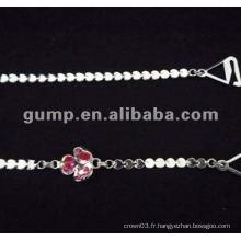 Sangles en cuir de diamant en métal (GBRD0177)