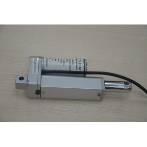 Small electric actuator for lifting kitchen hood