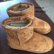 Neueste Injektionsstiefel MID-Cut Diamond Schneestiefel Warme Winterstiefel Stock Schuhe (FF328-4)