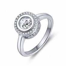 Bijoux en diamant de danse 925 Anneau argenté Micro Setting