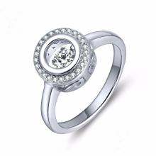 Dancing Diamond Jewelry 925 Серебряное кольцо Micro Setting
