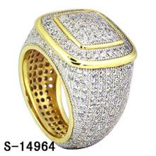 Hochwertiger Modeschmuck 925 Sterling Silber Ring mit Diamant