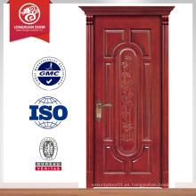 Mejor venta pvc madera puerta delantera diseño