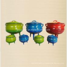# 1/4, # 1/2, # 3/4, # 1 Производитель чугунных горшков Potjie из Китая