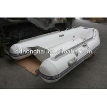 Inflable de fibra de vidrio casco costilla barco CE RIB250 con CE