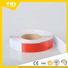 Red and White Reflective Warning Tape