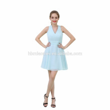 Fashion Light Blue Short Mexican Evening Dress For party