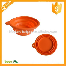 Hot-selling Anti-dust Silicone Travel Collapsible Dog Bowl