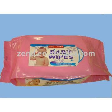Zend06-6271 Lapeado paralelo Spunlace toallita húmeda no tejida
