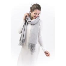 Brcwa-100% Écharpe en cachemire pour femme en couleur unie