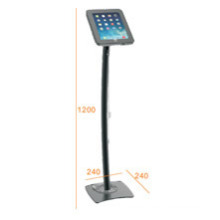 Pad & Tablet Floor Stand Metal Pillar Lockable & Charging Cable (PAD 002A)